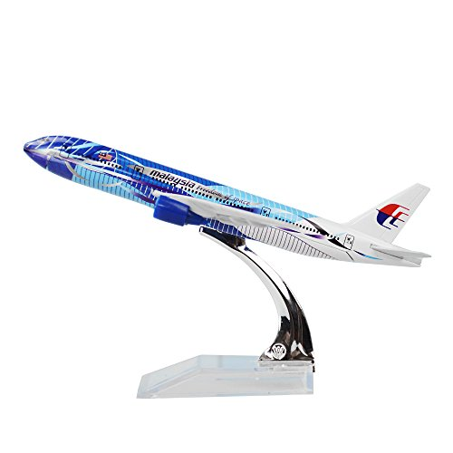 24-hours Malaysia Airlines Boeing 777-200 Sea Wave Alloy Metal Model Decorations Plane Model Die-cast 1:400