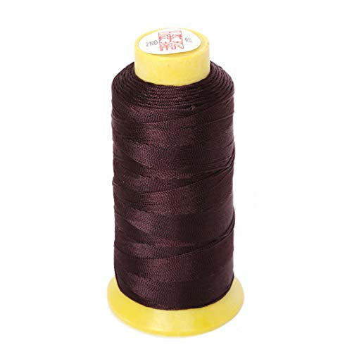 Size 0.25Mm/0.5Mm/0.75Mm/1.2Mm 7 Colors Chinese Knot Cord Thread Silk Beading Thread, For DIY Stitching Thread Sewing Craft Brown 12 Twisted 220 Yard