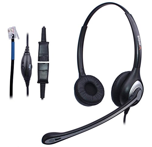 Wantek Binaural Call Center Telephone Headset Headphone with Mic and Quick  Disconnect for Cisco Unified IP Phones 7931G 7940G 7941G 7942G and