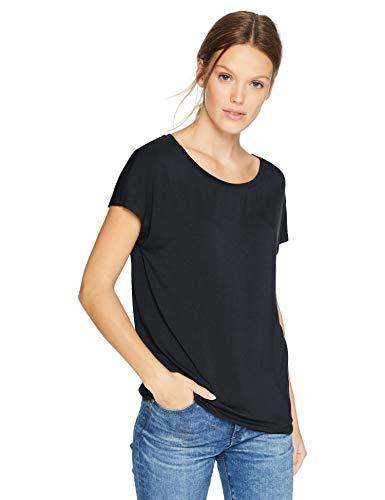 Daily Ritual Women's Jersey Short-Sleeve Boat Neck Shirt, Navy, Medium ()