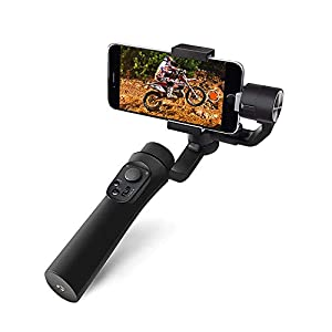Osaka 3-Axis Handheld Mobile Gimbal Stabilizer Gimble 360° Rotation Pan Inception Mode Stunning Motion Time Lapse Stabilizer for Smartphone, iPhone Xs Max Xr X 8 Plus, Samsung Galaxy S9+ S8+ S7 S6 96