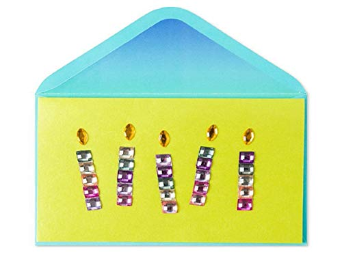 Purple & Pink Gem Candles Birthday Card by Papyrus
