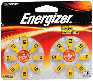 Energizer Turn and Lock Hearing Aid (Eveready Hearing Aid Batteries)