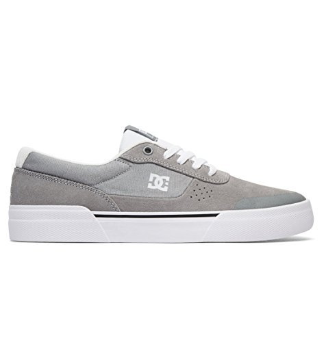 Dc Mens Switch Plus S Skate Sneakers Grigio / Bianco