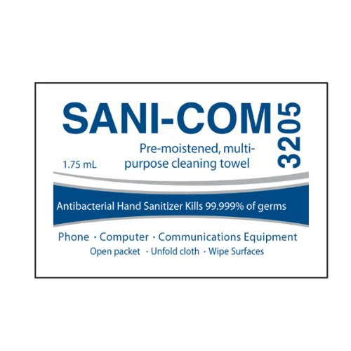 Sani-Com Cleaning Towelette, 200/box