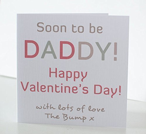 Valentine Card For Daddy 1st Valentines Card. Soon To Be Daddy Valentineu0027s  Day Card From