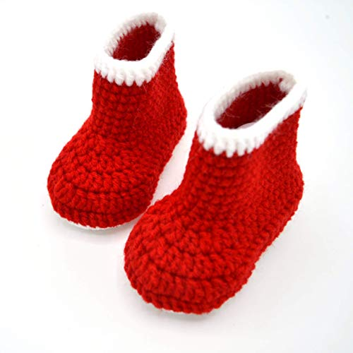 07548c944fe79 Christmas Booties, Red Baby Boots, Crib Shoes for Infant or Newborn ...