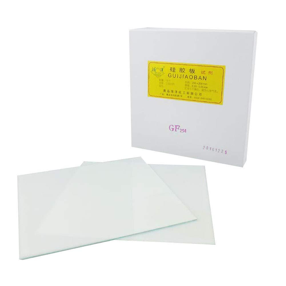 Adamas-Beta GF254 TLC Silica Plate Silica Gel Plate Length×Width 200×200mm, Thickness 0.2-0.25mm, 10/Box by Adamas-Beta