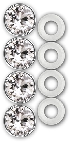 (Cruiser Accessories 82730 License Plate Frame Fastener Caps, Diamond Bling)