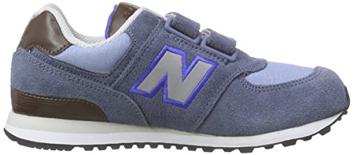 New Balance K_574v1, Zapatillas Unisex Niños Azul (Blue/White/Brown)