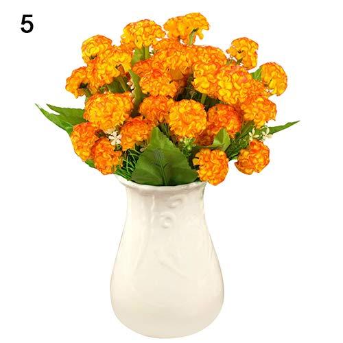 litymitzromq Artificial Flowers Fake Plants, 9 Pcs Artificial Hydrangea Bouquet Party Home Wedding Fake Bridal Silk Flowers Faux Fake Flowers Floral Arrangement
