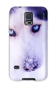 Vivian Walton Case Cover For Galaxy S5 - Retailer Packaging Cute Husky Protective Case Sending Screen Protector in Free