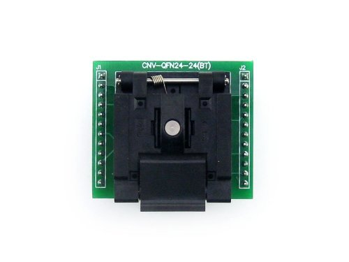 Enplas IC Test Burn-in Socket Adapter Applied to QFN24 Pzsmocn Clamshell Programming Connector//Converter//Adapter QFN24 to DIP24 MLF24 Packages. 24-Pin 0.5mm Pitch A with PCB MLP24