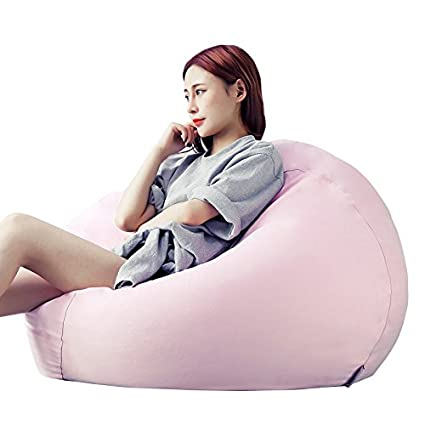 Smarty Portable Large Indoor Lounge Livnig Room Dorm Pink Suede Lazy Sofa Bean Bag Lounger Chair (Medium)