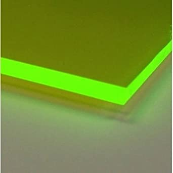 Amazon Com 12 X 24 1 8 Acrylic Plexiglass Sheet Fluorescent Green 9093 Industrial Scientific