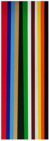 60 Blatt Glanzpapier / 12 verschiedene Farben / DIN A4