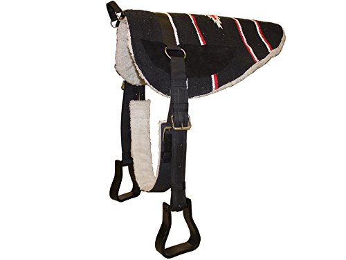 Cow Horse Saddle - Derby Originals Tahoe Tack Navajo Western Horse Bareback Pad with Reinforced Stirrups and Girth - Multiple Colors