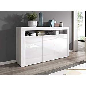 e-Com Luna – Commode – Blanc – 155cm