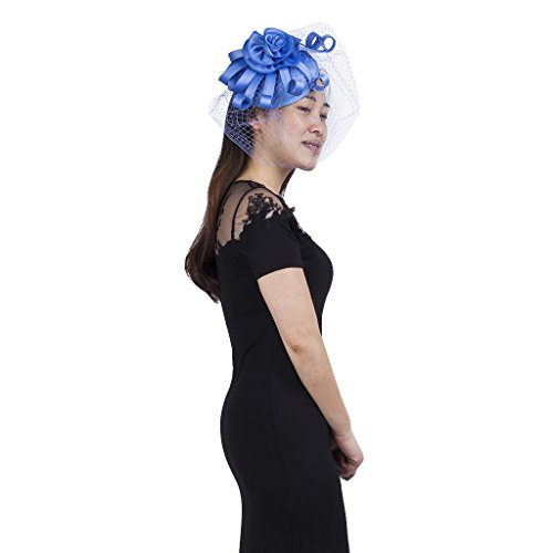 Graphite Classic Coat (Janeo ELEANOR Fascinator, Classic Pillar Box Styling with Large Satin Rose and long looped swirls Structured Flower Theme Ornate and English Designer Headwear at a amazing price, Six Colour Options.)