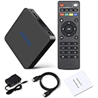 WOSUNG Android 6.0 TV Box 2G/8G Am logic S905X Quad Core Support Wi-Fi 2.4G Bluetooth 4.0 HD Streaming Media Player