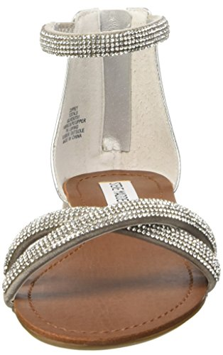 Steve Madden Zippey, Women's Sandals with Straps Silver (Silver Multi)