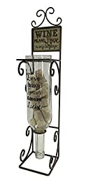 Wine Means Love Decorative Metal Wine Bottle Cork Collector
