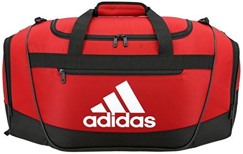 adidas Defender III Duffel Bag, Red/Black/White, Large