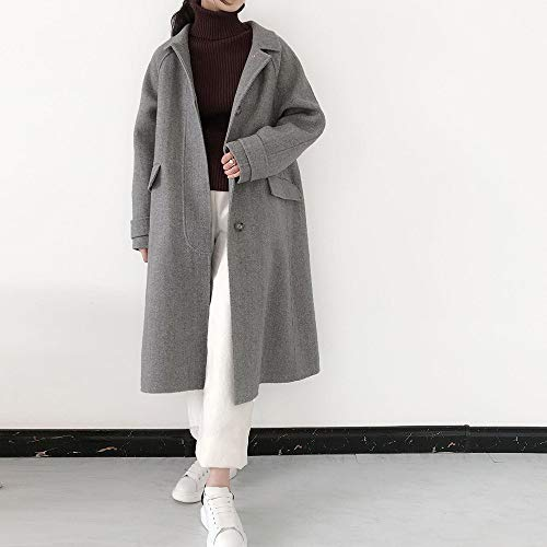 Autunno Donna Bavero A Cappotti Cappotto Revers Collo E Inverno Lattice Da Egcra Monopetto Con gwqB6PC