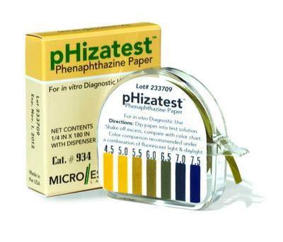 934 - pH Paper - pHIZATEST Nitrazine Indicator Paper, Micro Essential Laboratory - Pack of 10 ()