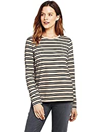 Women's Petite Relaxed Long Sleeve T-Shirt Supima Cotton...