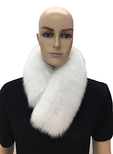 HIMA 100% Real Fox Fur Headband (White) by Hima