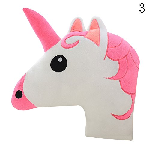 FUNDIY Unicorn Horse Pillow Cushion Animal Doll Toy Home Office Sofa Bed Room Car Decor Kids Gifts Pink