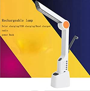 ZT USB Charging Desk Lamp Led Multi-Function Desk Lamp Radio Solar Hand-Charging Lamp Creative Folding Outdoor Lights