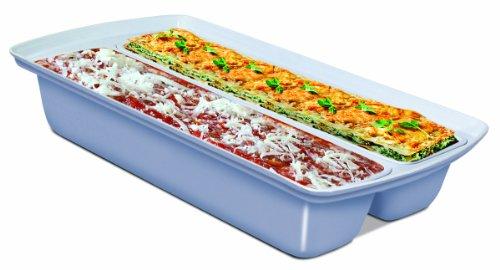 Handy Gourmet JB6564 Dual Lasagna Tray, Blue