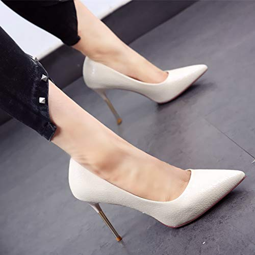 party stiletto YMFIE European shoes shoes Black heels spring and fashion single with autumn metal sexy pointed banquet dOCwCrxn4