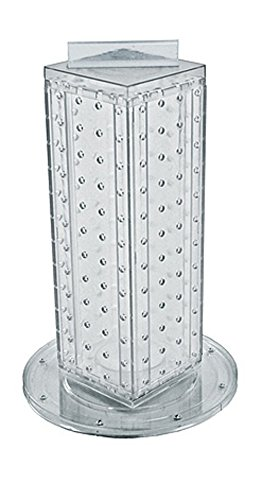 New Retail Clear Pegboard Interlocking Counter Unit display 4'' x 4'' x 13'' by Pegboard Display