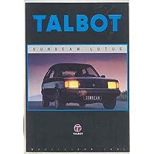 1982 Talbot Sunbeam Lotus Brochure Poster German