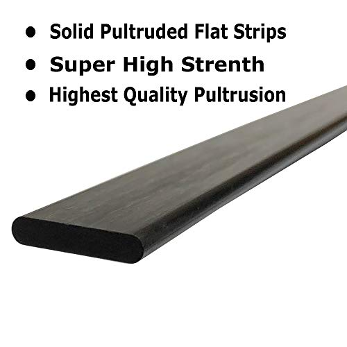 PULTRUDED-Flat Carbon Fiber Bar 100/% Pultruded high... 1 4mm x 20mm 1000mm