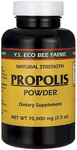 YS Royal Jelly/Honey Bee - Propolis Powder, 70,000 mg, 2.5 oz powder