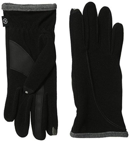 Isotoner Women's Smartouch Stretch Ottoman Glove, Black/Grey, One Size