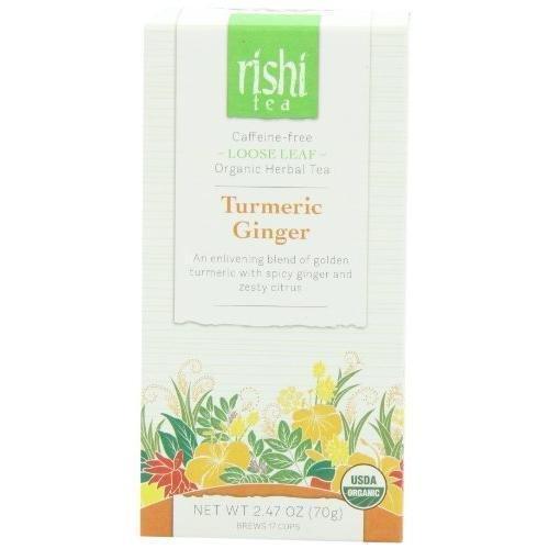 Rishi Tea Turmeric Ginger Loose Leaf 2.47 Ounce New