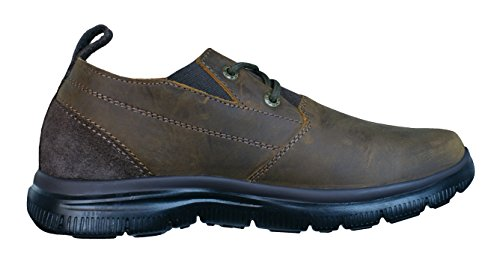 Skechers Hinton Boley Relaxed Fit Zapatos de cuero para hombre Brown
