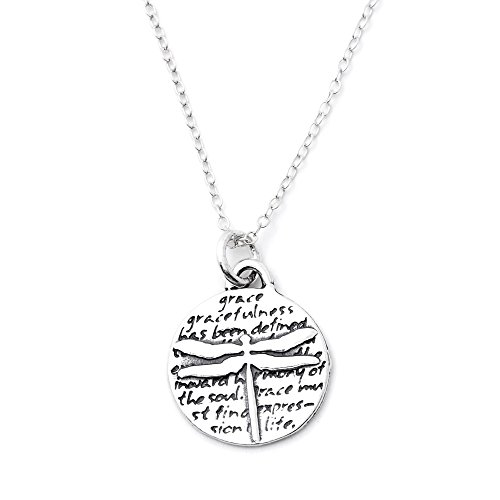 Kevin N Anna Animals Inspirations Quote Pendant Necklace, 18