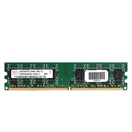 Hynix 2GB PC2-6400 DIMM RAM DDR2-800 Desktop Memory (Speed Ddr2 Ram)