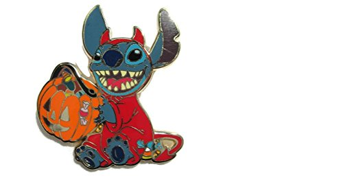 Disney Stitch in Trick or Treat Halloween Devil Costume with Pumpkin Pin