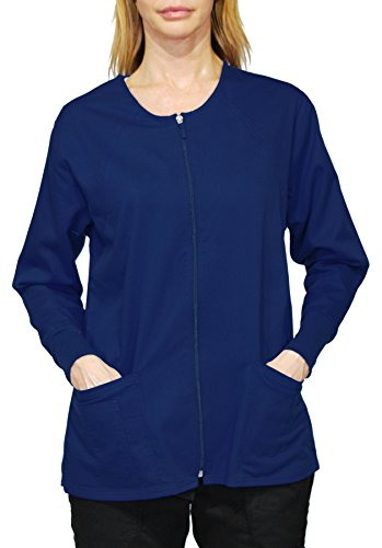 Hey Medical Uniforms Simply Smile Stretch Twill Zip-Front Warm-Up Jacket (Plus ()