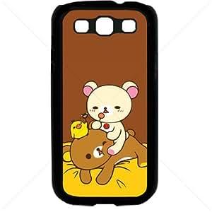 Cute Teddy Bear Samsung Galaxy S3 SIII I9300 TPU Soft Black or White case (Black)