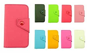 Fancy PU Leather Wallet Case Cover With Magnetic flap closure Diary for HTC Smart Mobile Phones (red, HTC One X /Endeavor /Supreme /G23)