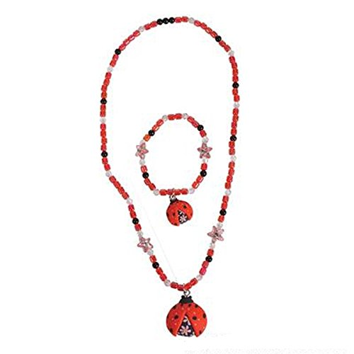 Fimo Ladybug Necklace And Earring Set, Multicolored. Two Sets.