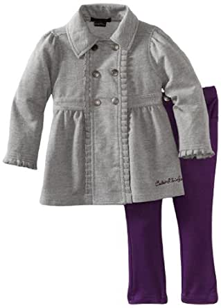 Calvin Klein Baby Girls' Jacket with Pant, Assorted, 18 Months